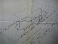 Progetto originale del Circolo della Vela di Roma